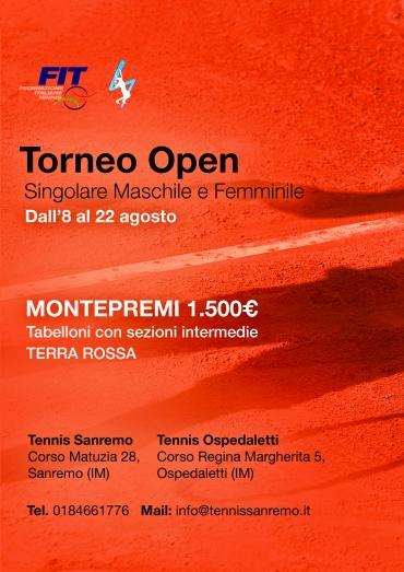 Torneo Open – Singolare maschile e femminile
